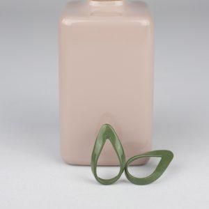 Pendientes loop verde