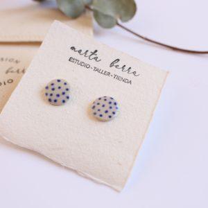 Pendientes mini puntos azules II